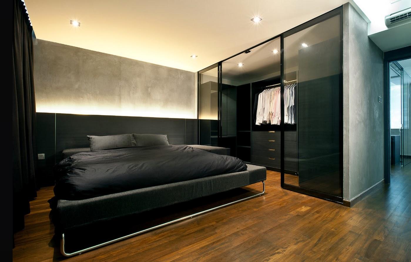 Черная кровать на металлокаркасе