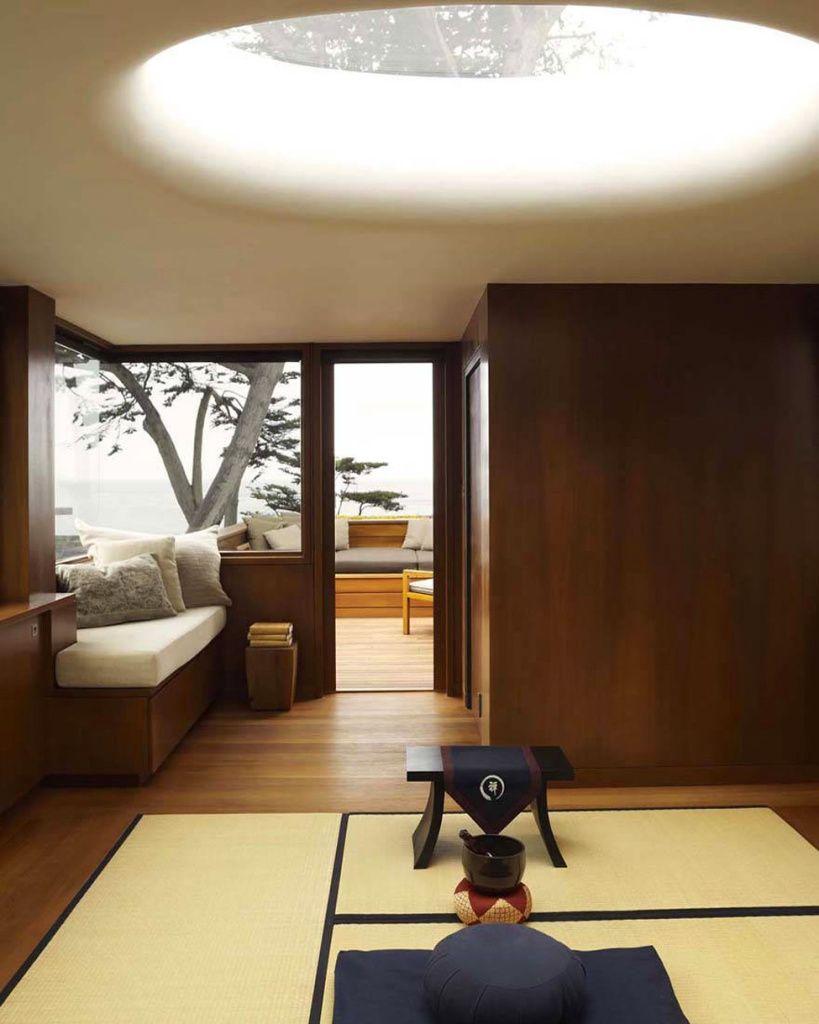 Японская спальня в минималистичном дизайне