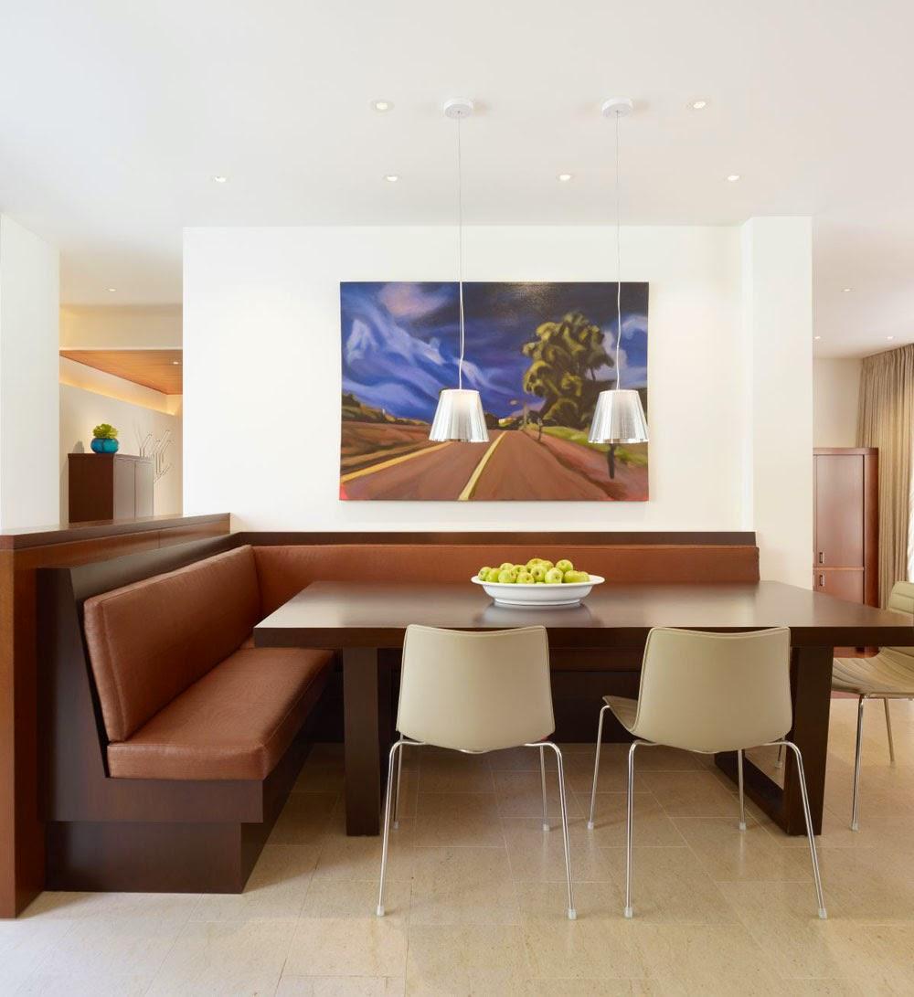 Угловой диван на кухню в стиле минимализм