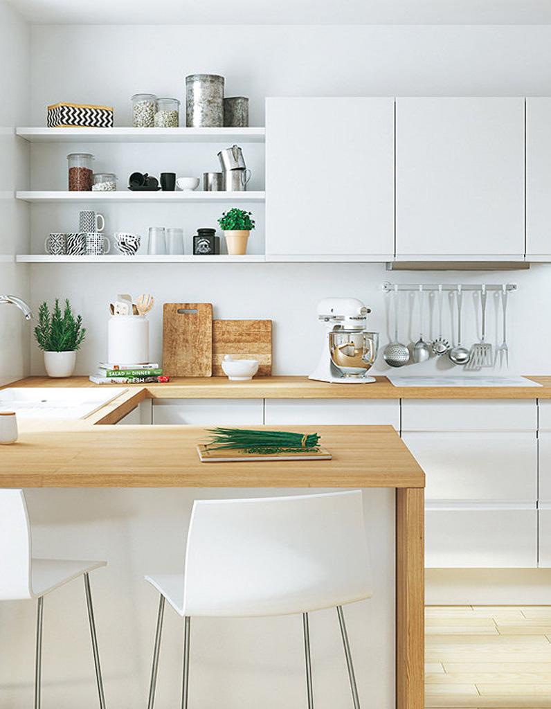 Кухня в хрущевке в стиле модерн