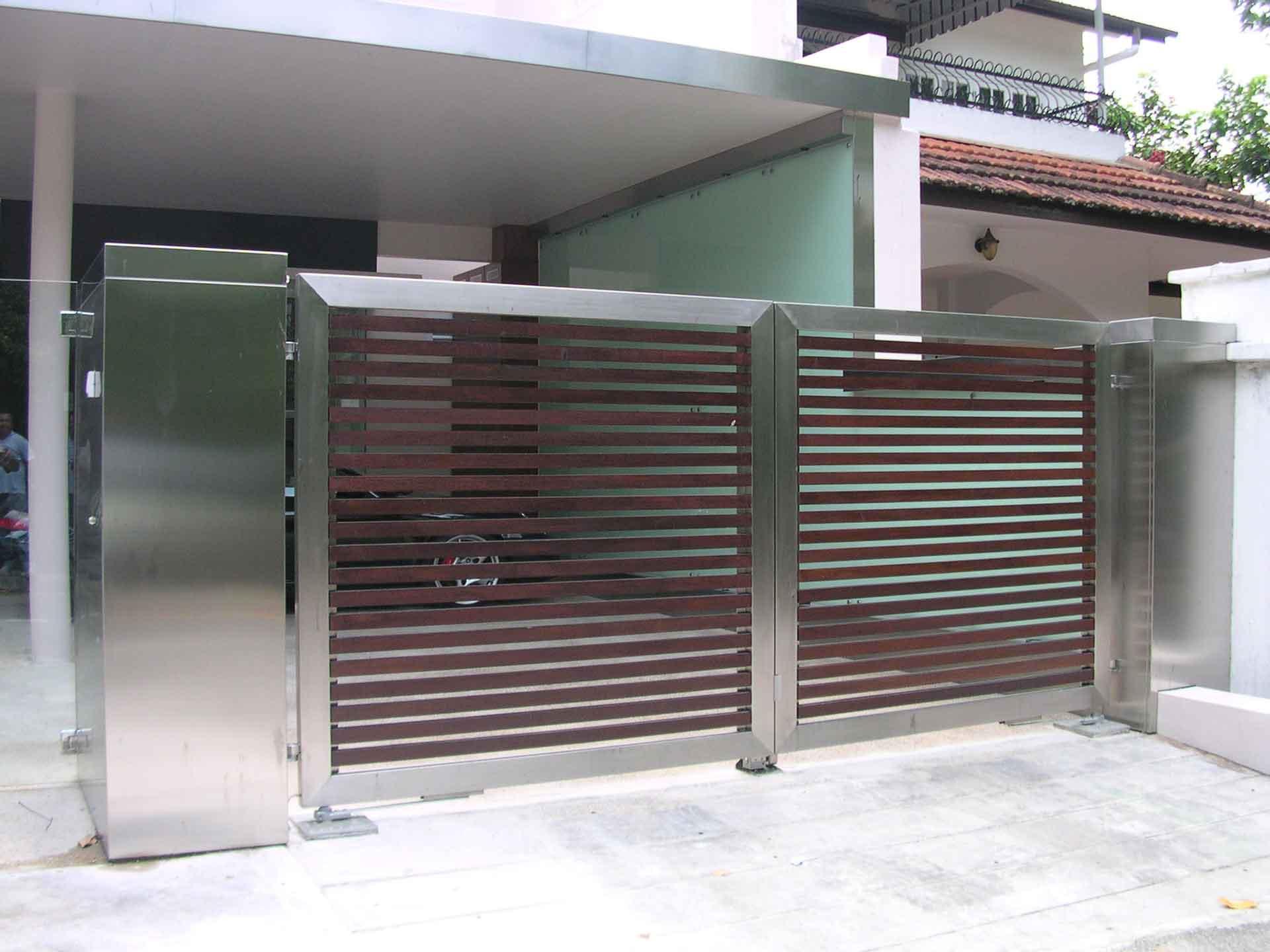 Автоматические ворота в стиле модерн