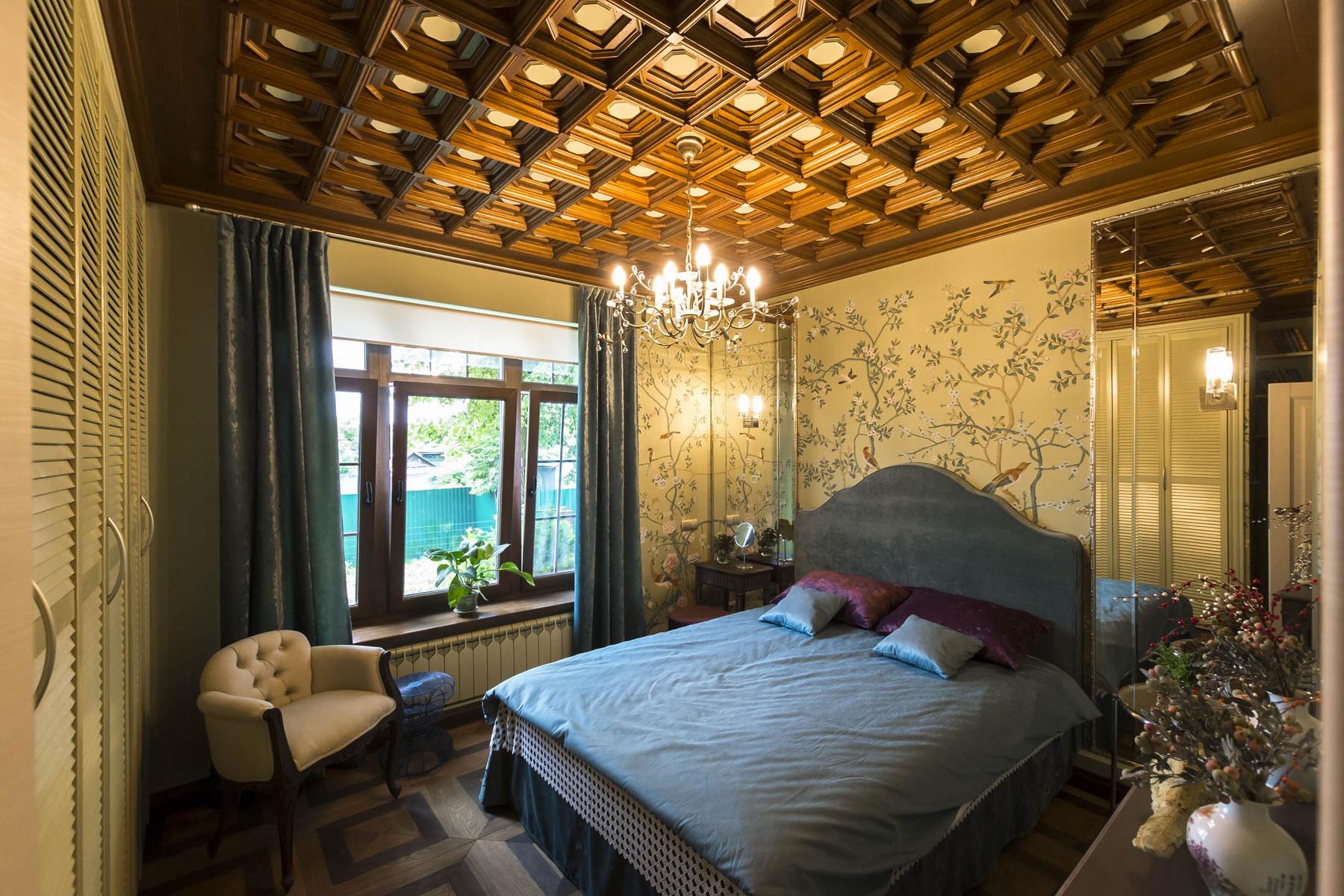 Спальня на даче в стиле модерн