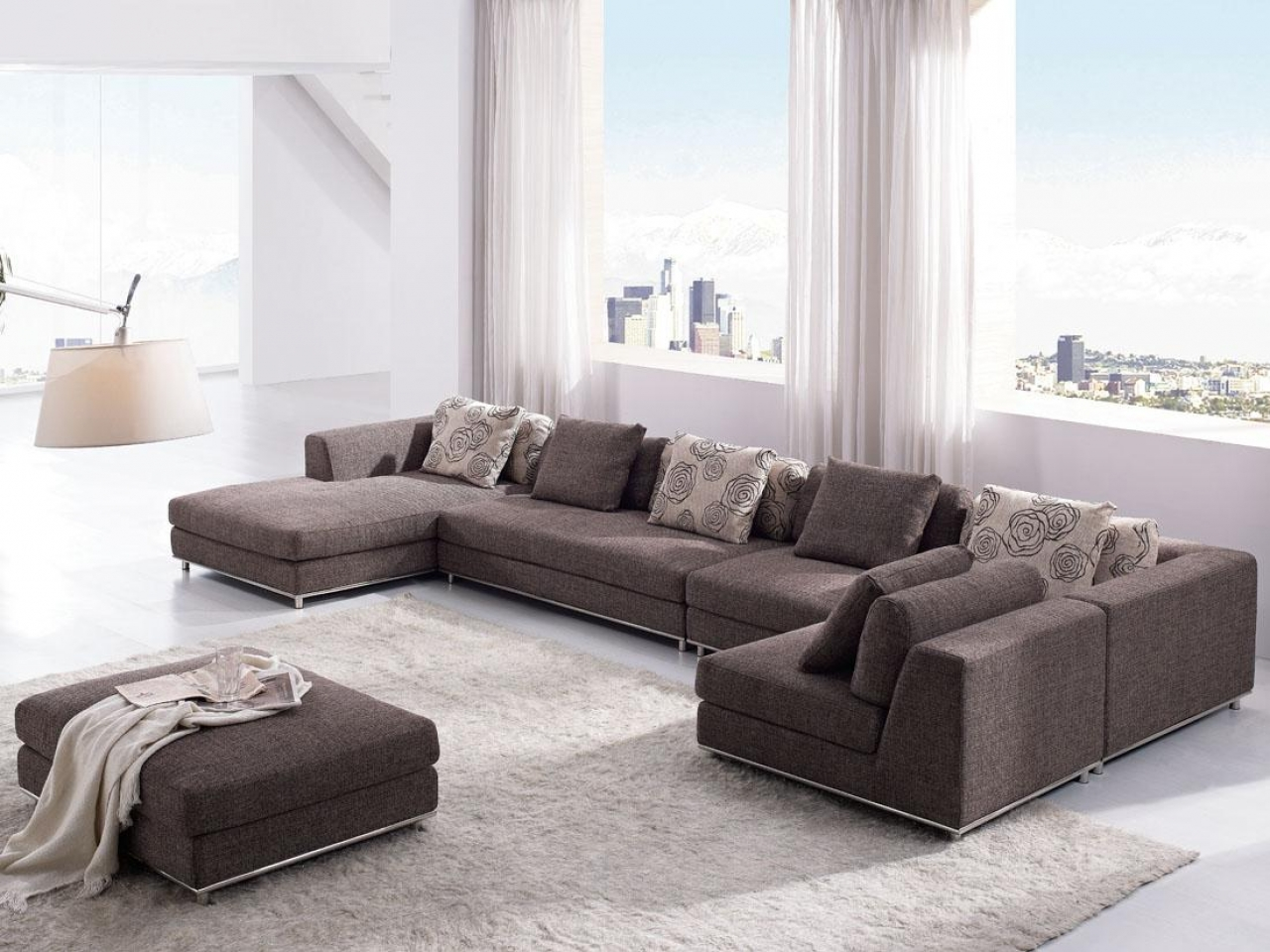Модульный диван на металлокаркасе