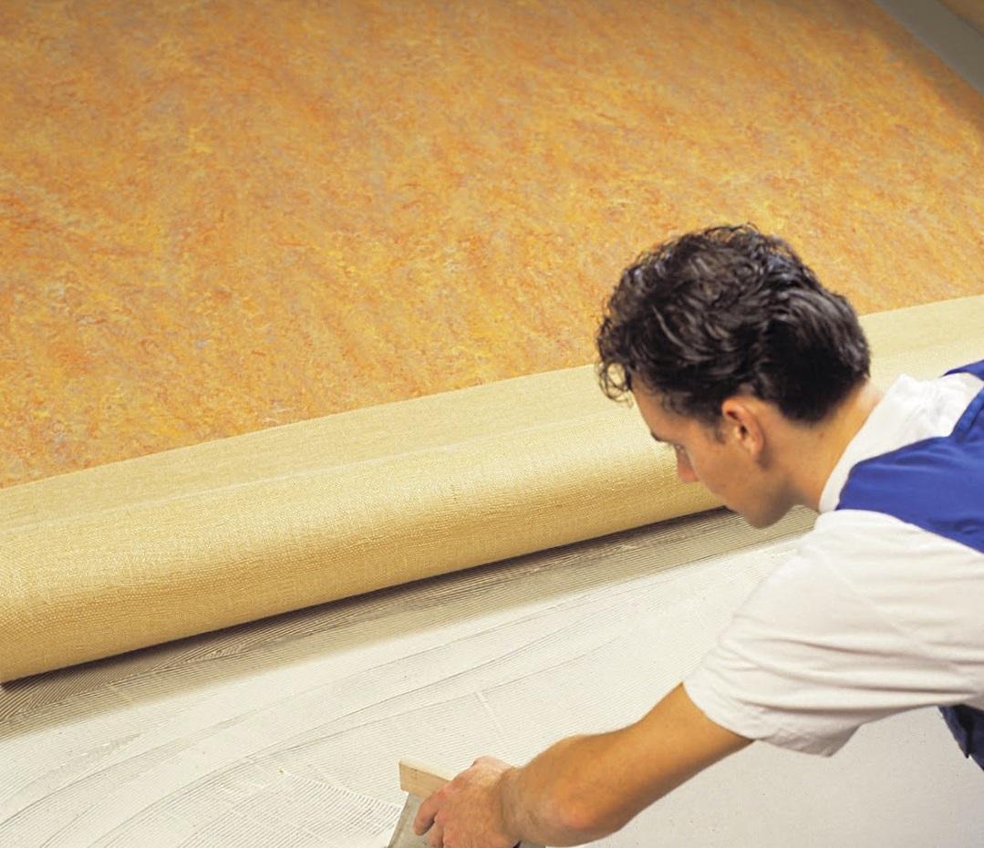 Монтаж линолеума на бетонный пол