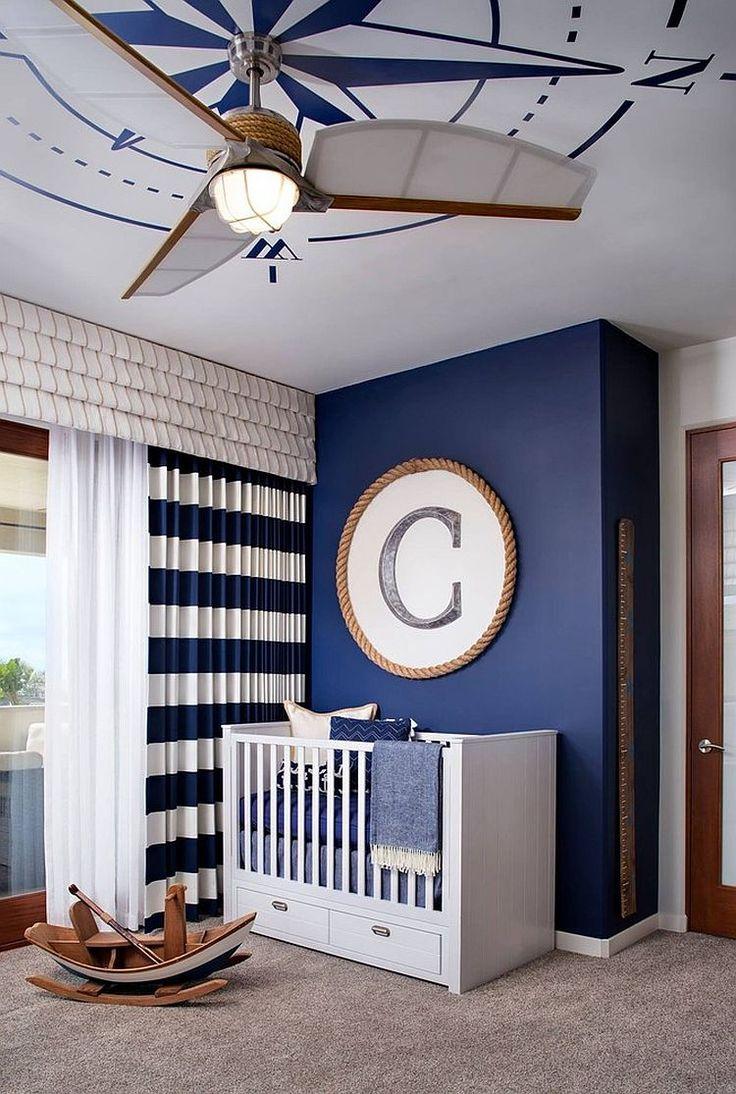 Морские шторы в детской