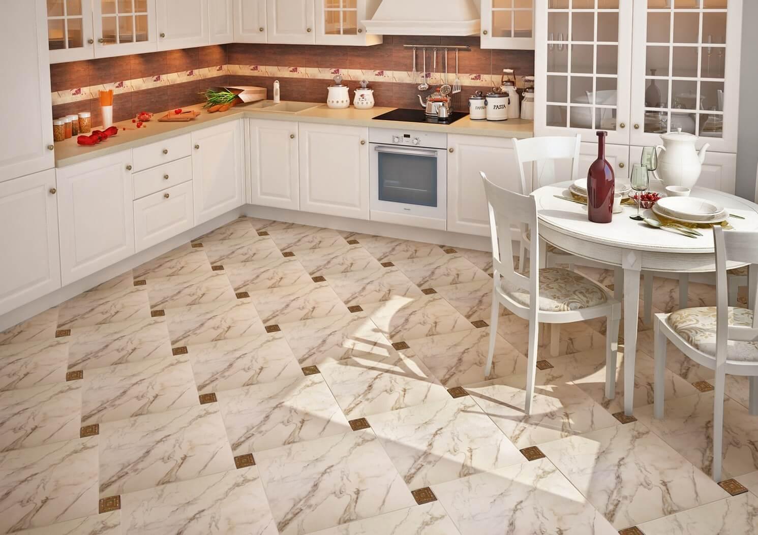 Мраморная плитка для кухни