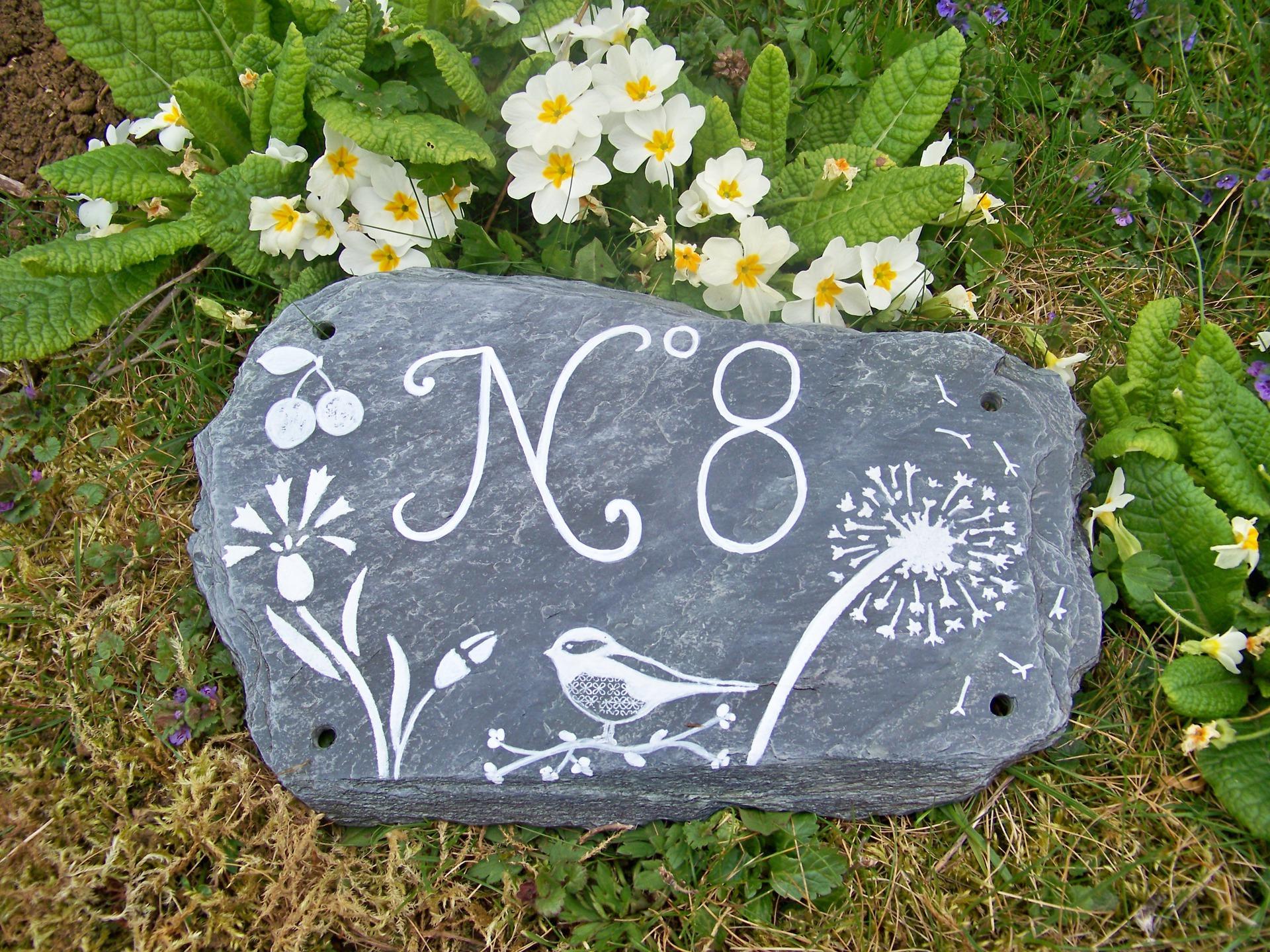 Табличка на дом из натурального камня