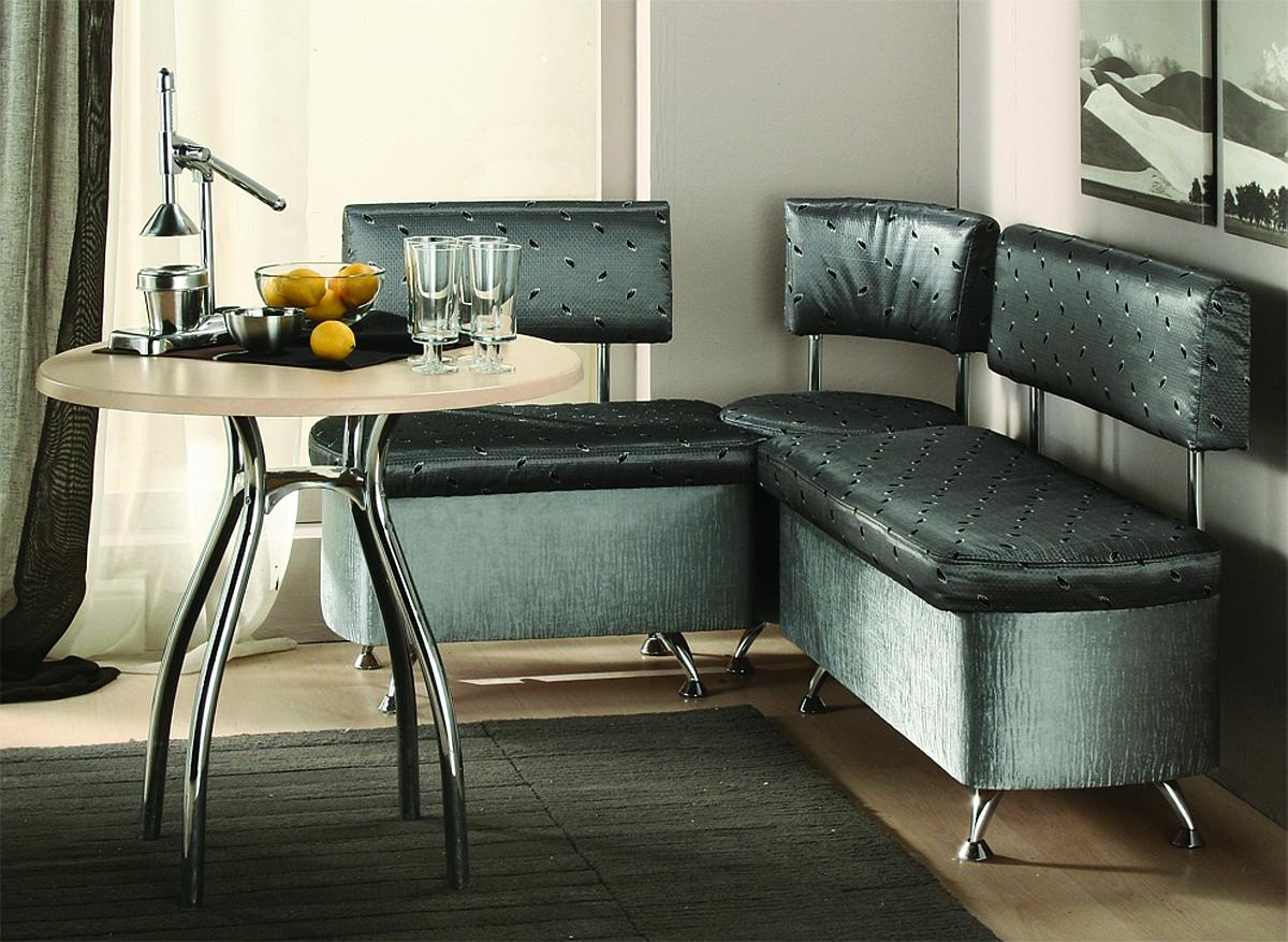 Угловой диван на кухню с мягкой обивкой