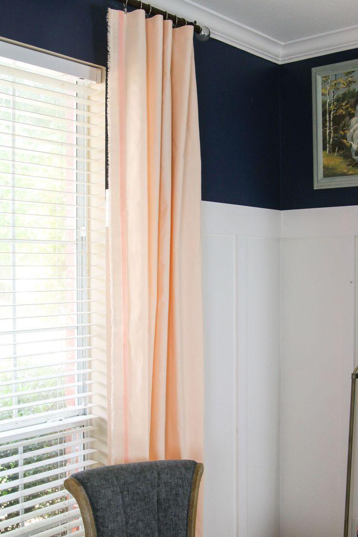 Персиковые однотонные шторы