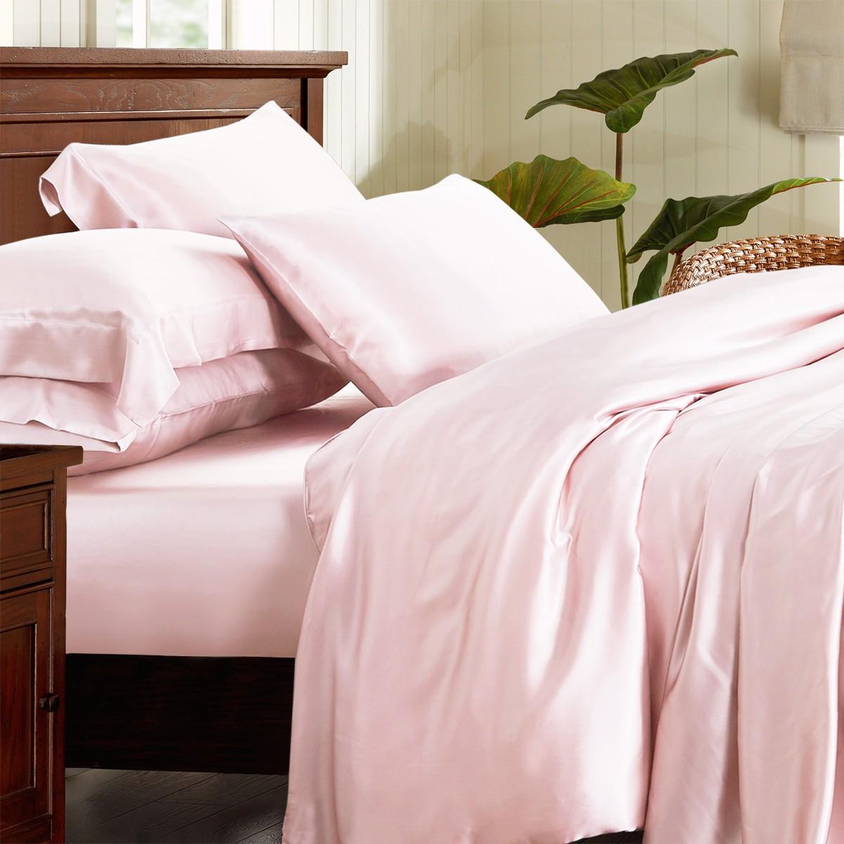 Шелковое постельное белье однотонное