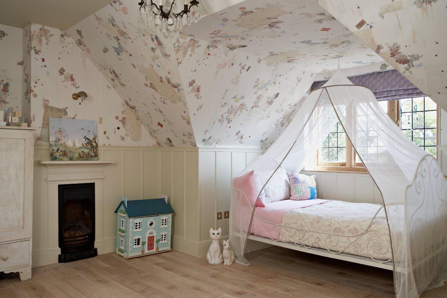 Обои для комнаты девочки в пастельных тонах