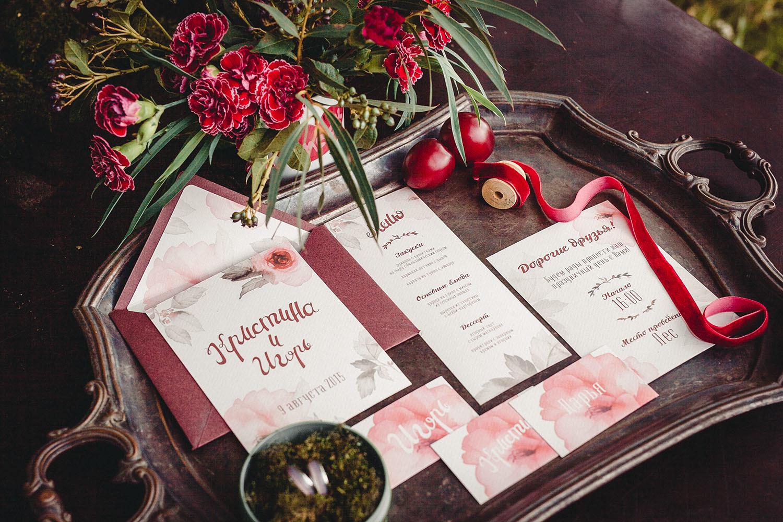 Приглашение на свадьбу в пастельном оттенке
