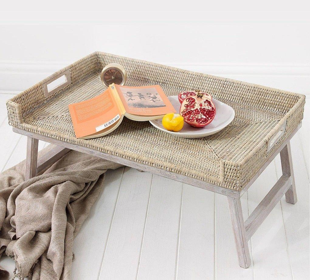 Столик для завтрака плетеный
