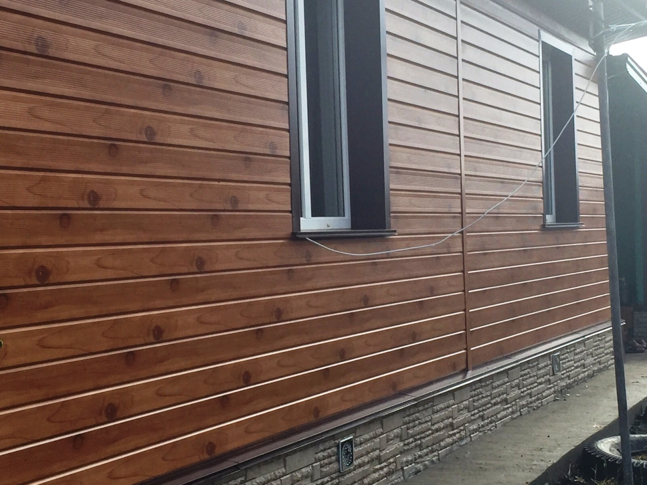 Металлический сайдинг деревянный