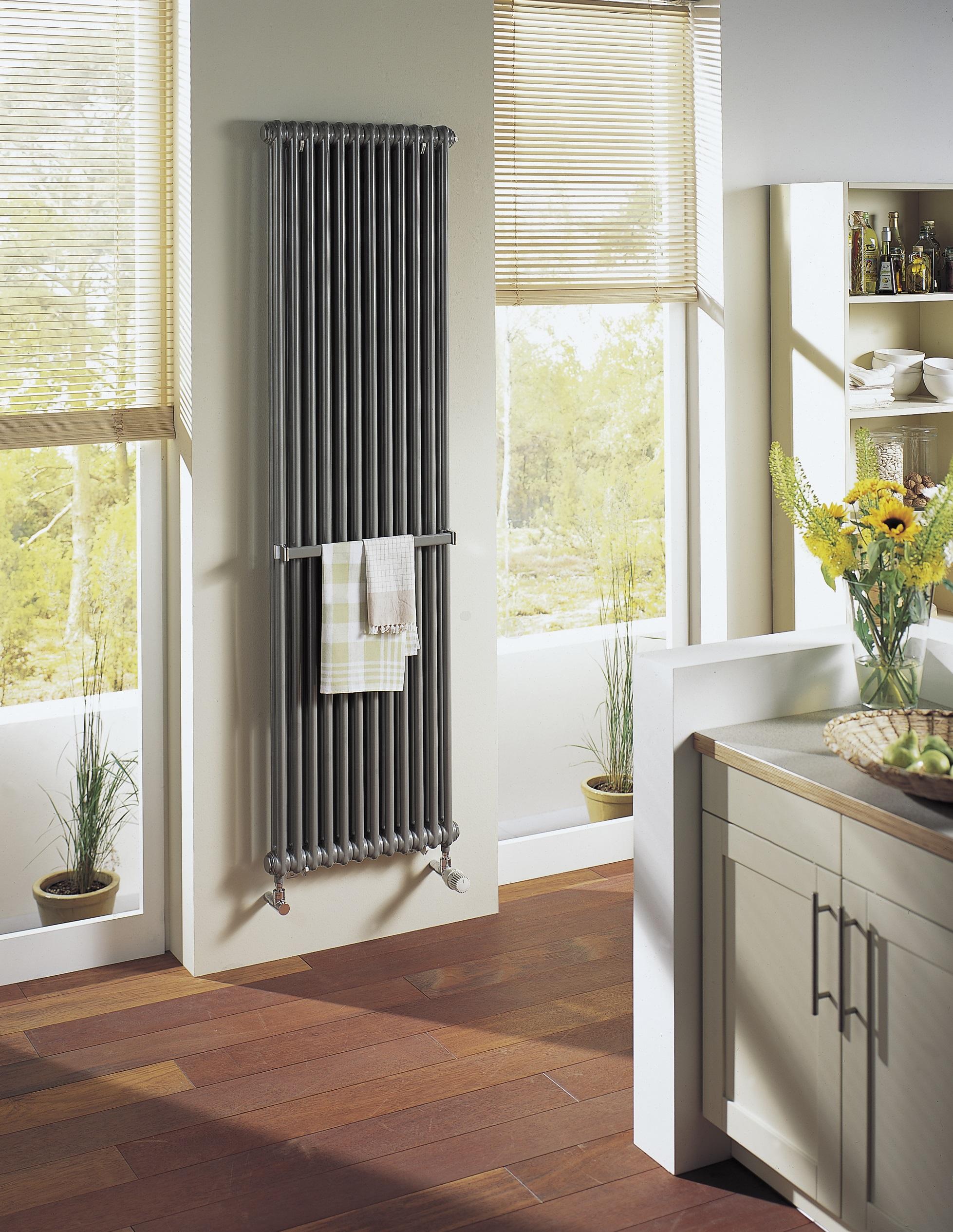 Подключение вертикального радиатора