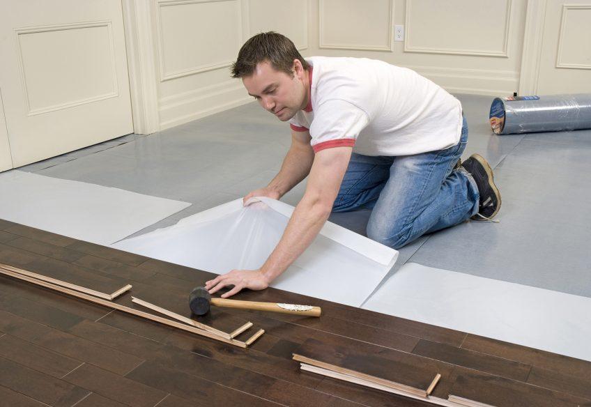 Ламинат с подложкой на бетонный пол