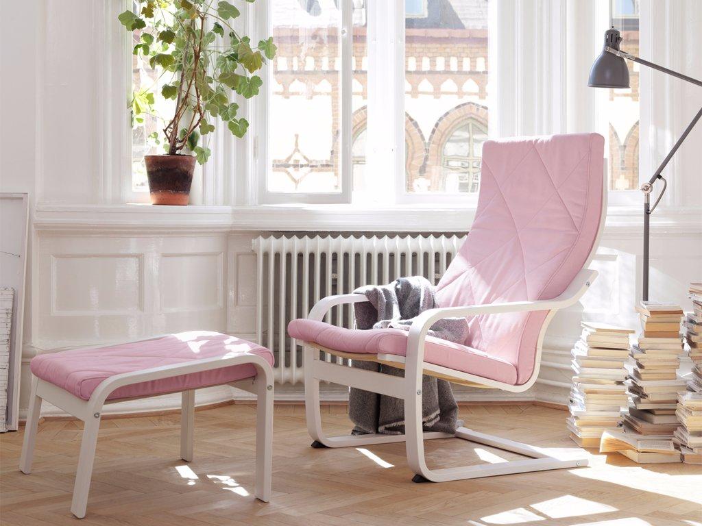 Кресло поэнг с подставкой