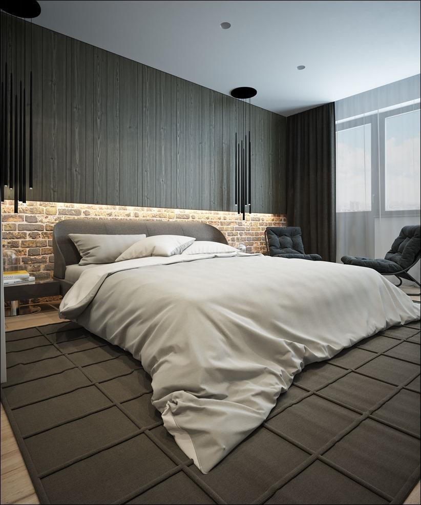 Ниша с подсветкой в спальне
