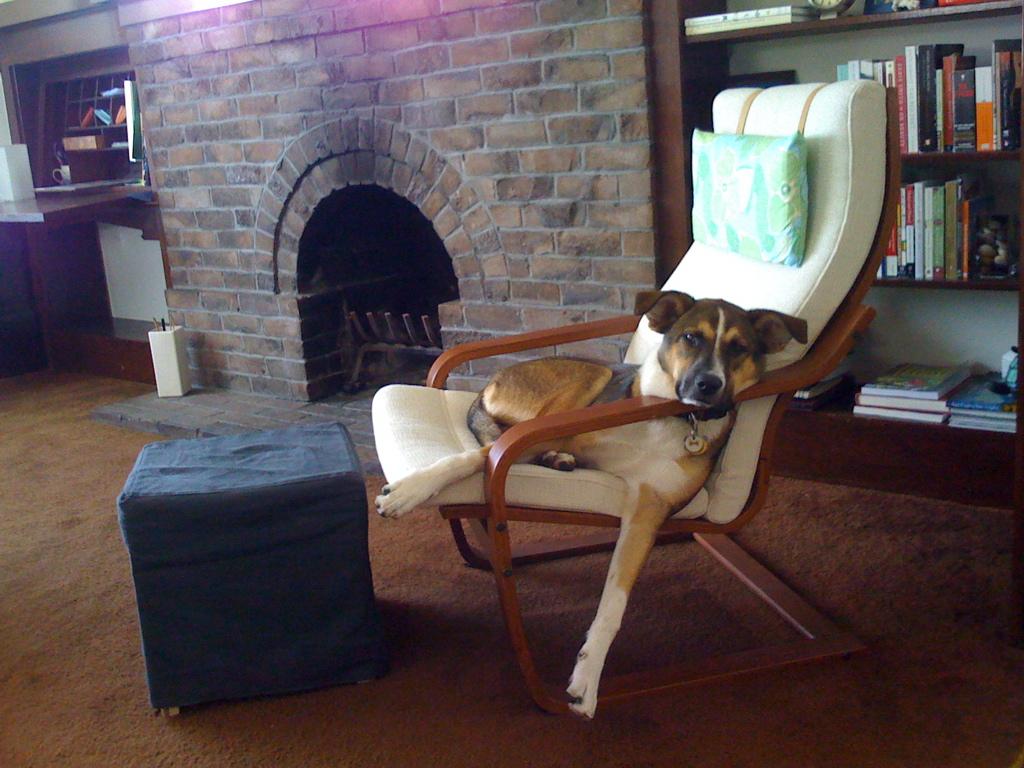 Кресло поэнг с подушкой