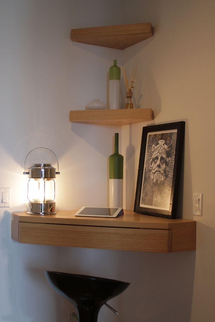 Угловой подвесной стол