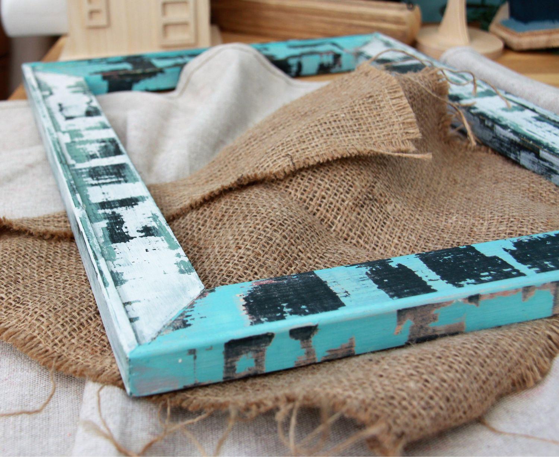 Покраска рамки из плинтуса