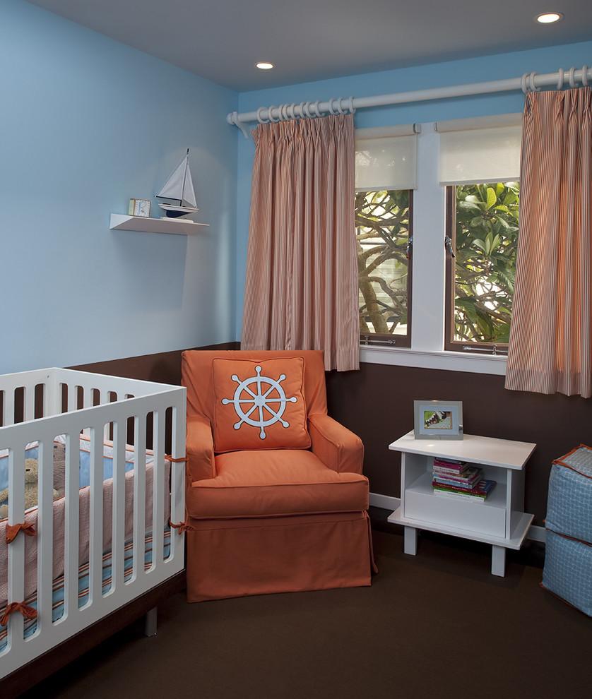 Персиковые полосатые шторы