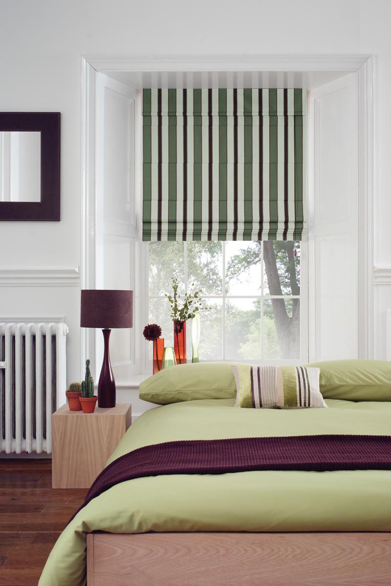 Узкие полосатые шторы
