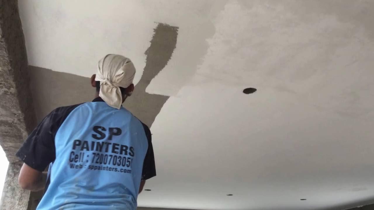 Цементная шпаклевка для потолка