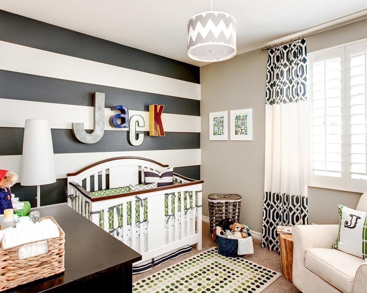Черно-белые шторы с принтом