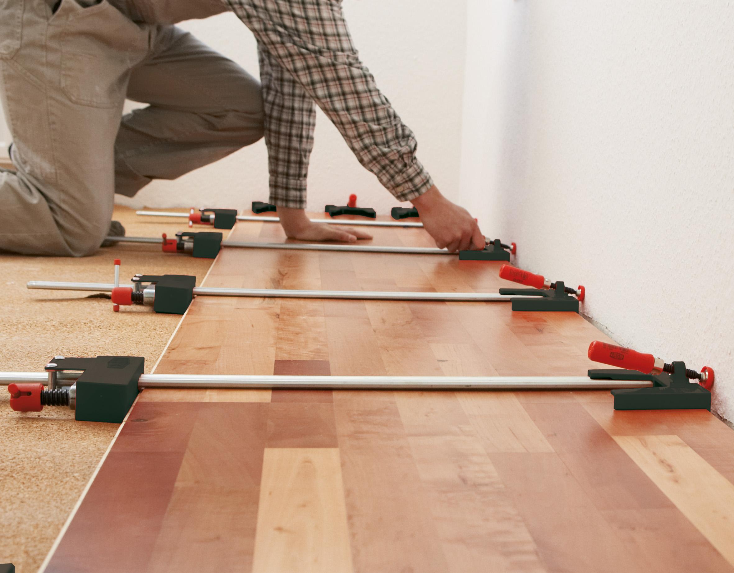 Ламинат с подложкой из пробки на бетонный пол