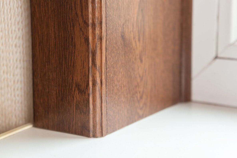 Дверные и оконные откосы из ламината (24 фото)