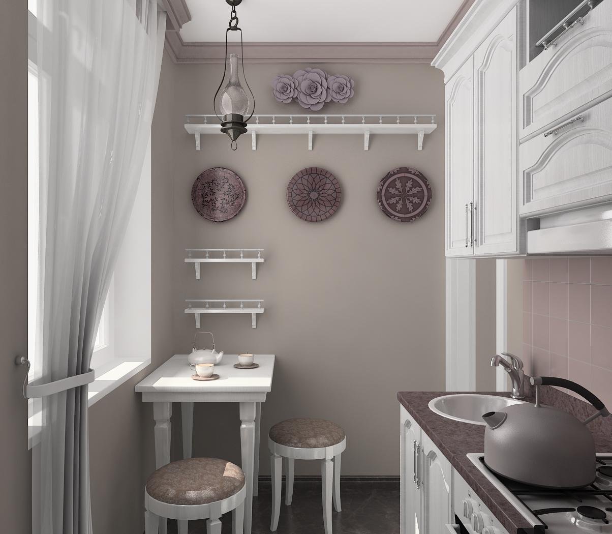 Кухня в хрущевке в стиле прованс