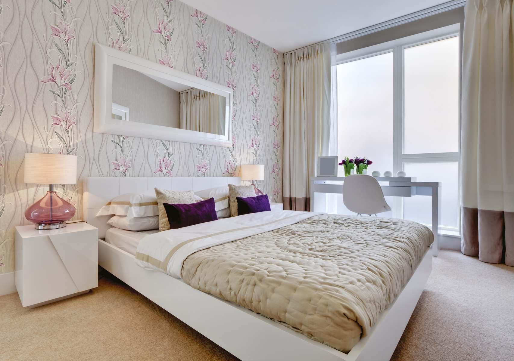 Белая мебель для спальни из ПВХ