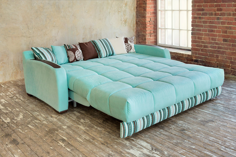 Бирюзовый раскладной диван