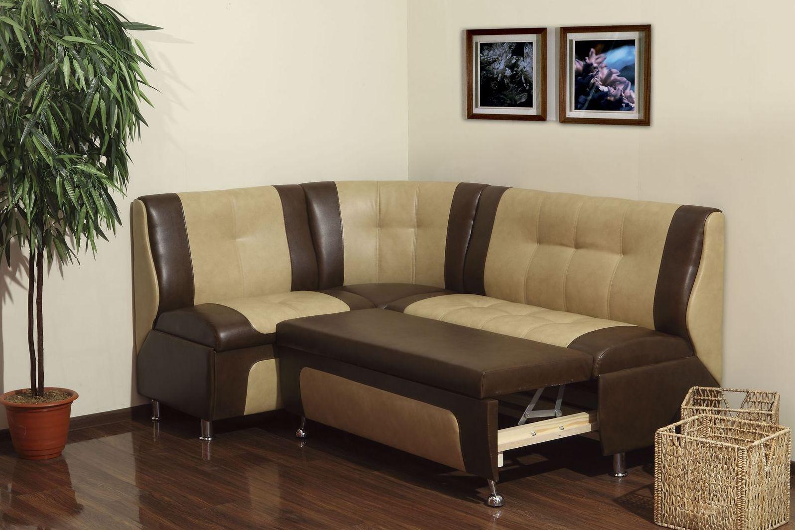 Угловой раздвижной диван на кухню