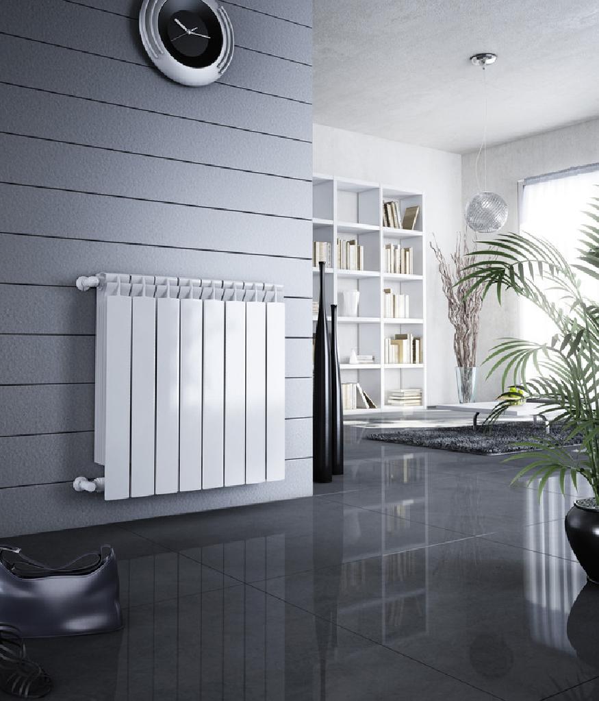 Алюминиевый радиатор с терморегулятором