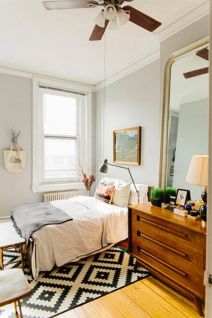 Спальня в хрущевке в стиле ретро