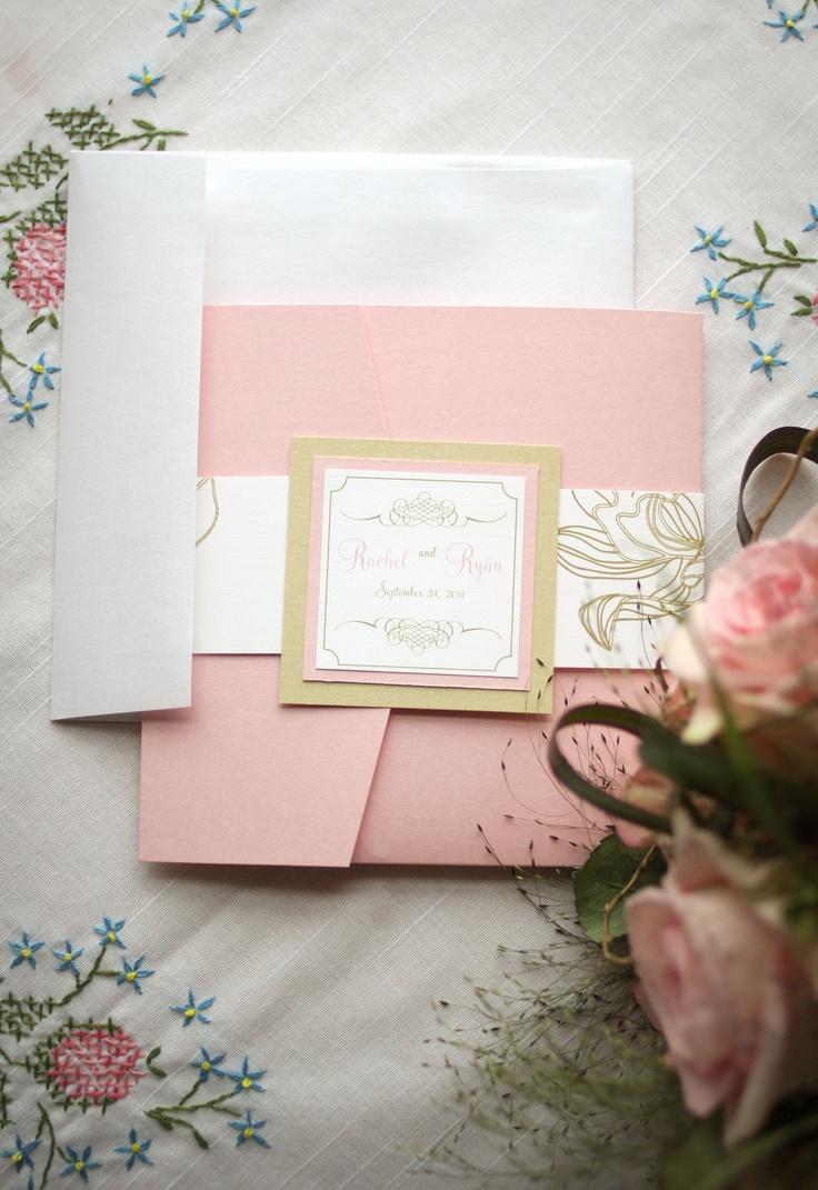 Приглашение на свадьбу розовое