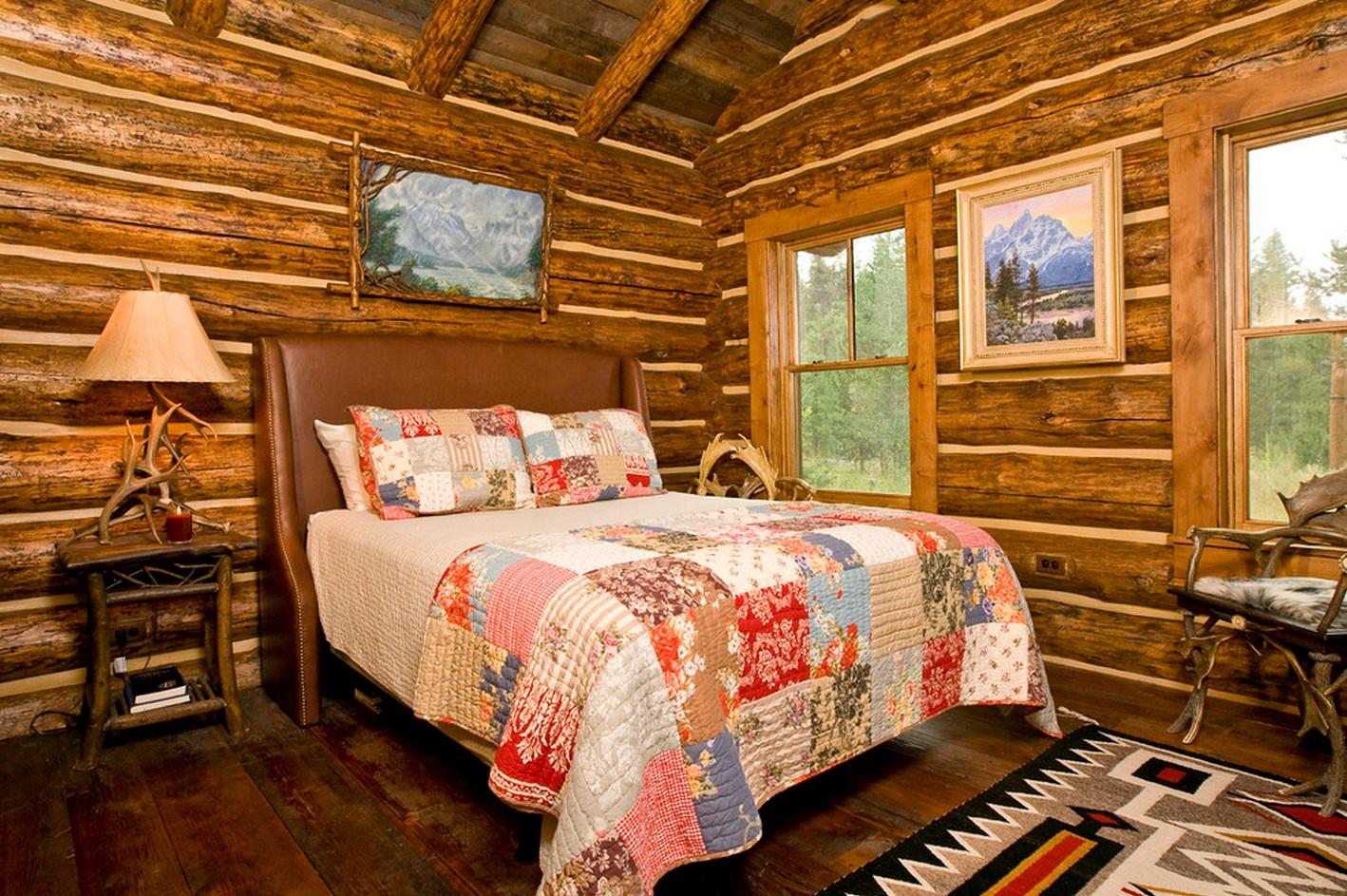 Спальня на даче в русском стиле