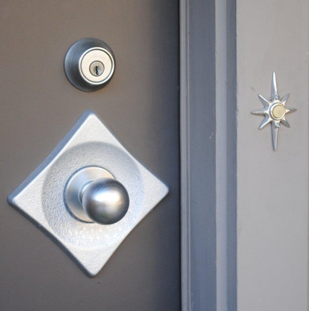 Дверной звонок под серебро