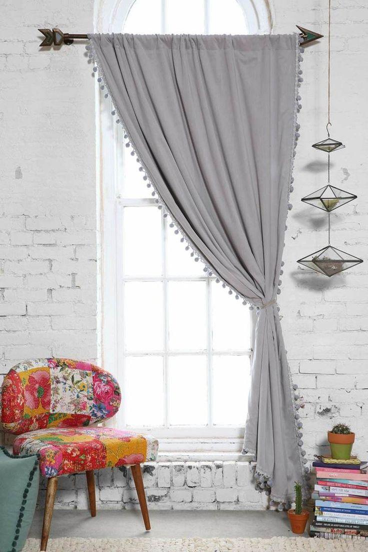 Серые шторы на одну сторону