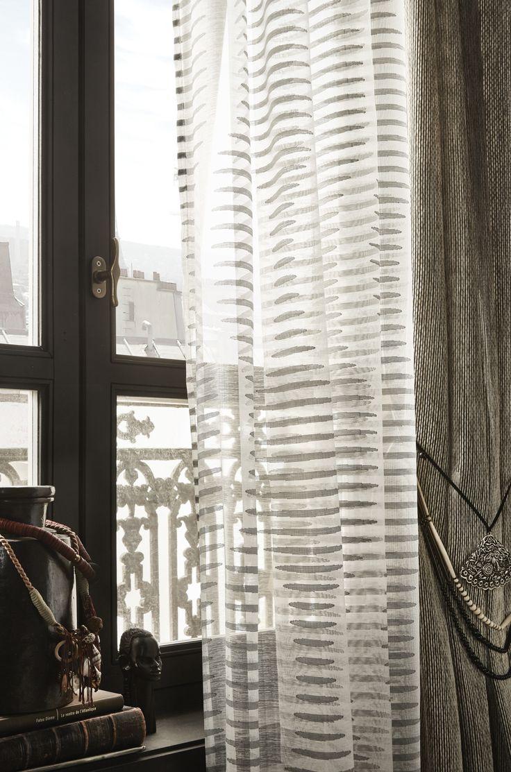 Двойные шторы серого цвета