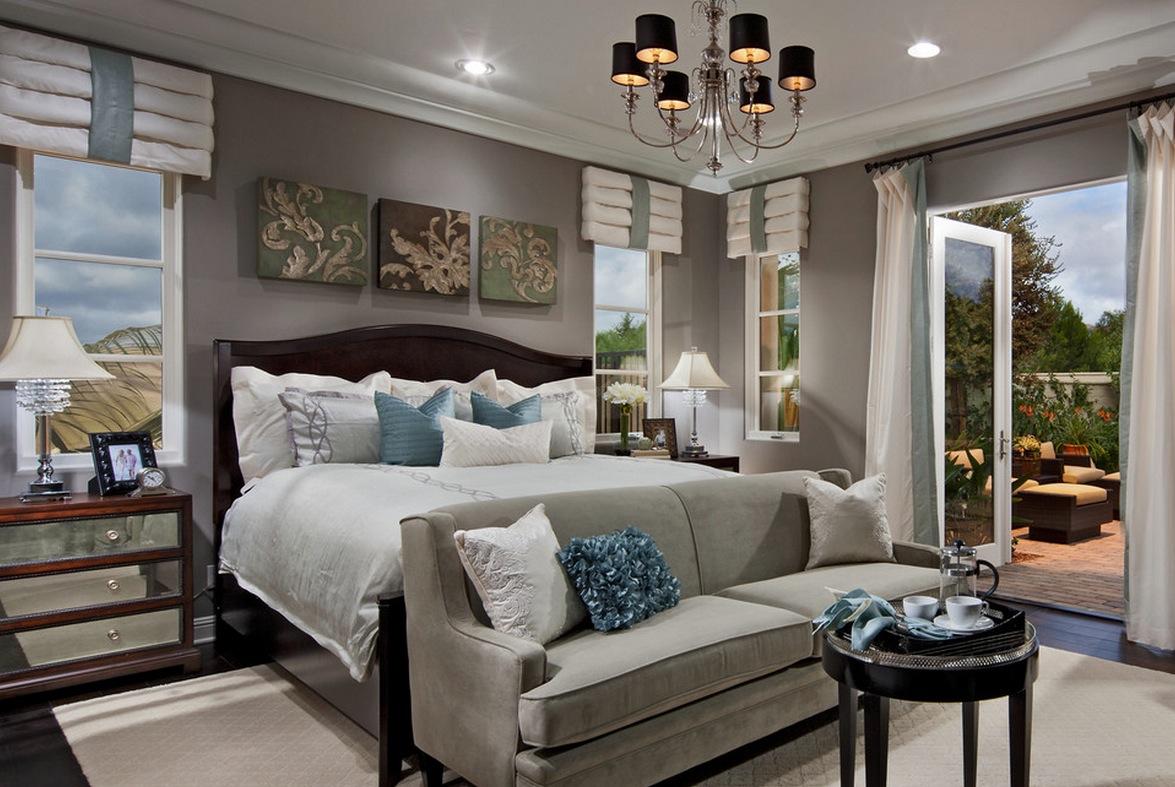 Серый диван для спальни