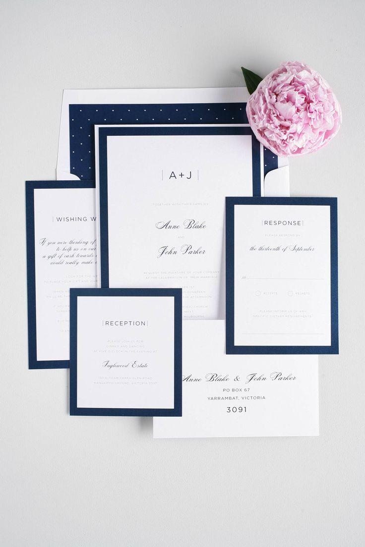 Приглашение на свадьбу в синем цвете