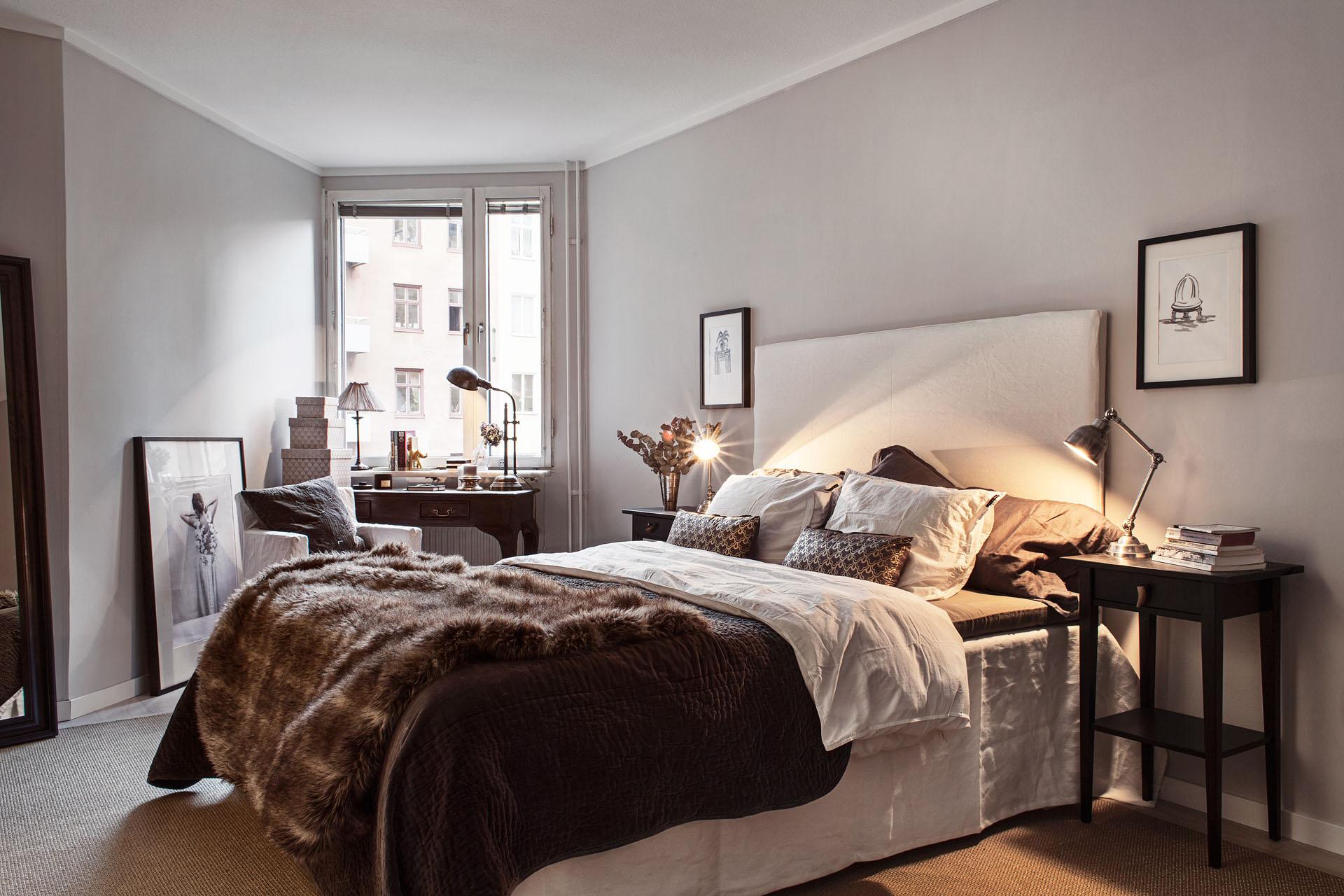 Спальня в хрущевке в скандинавском стиле