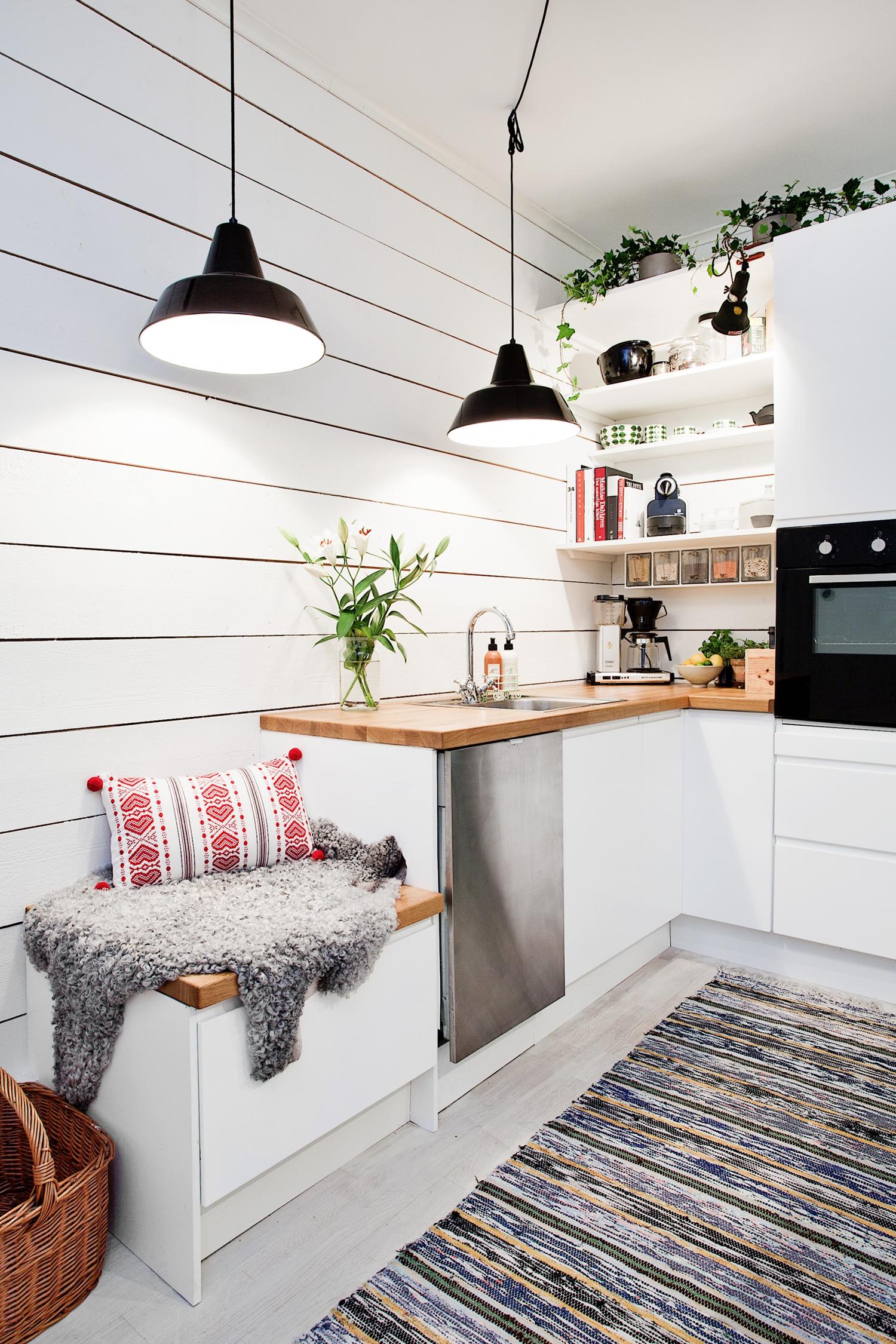 Кухня в хрущевке в скандинавском стиле