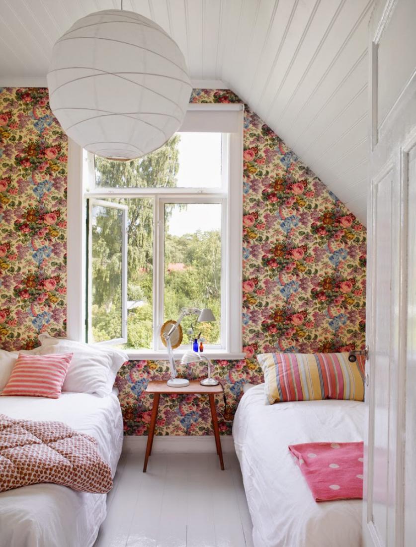 Спальня на даче в скандинавском стиле