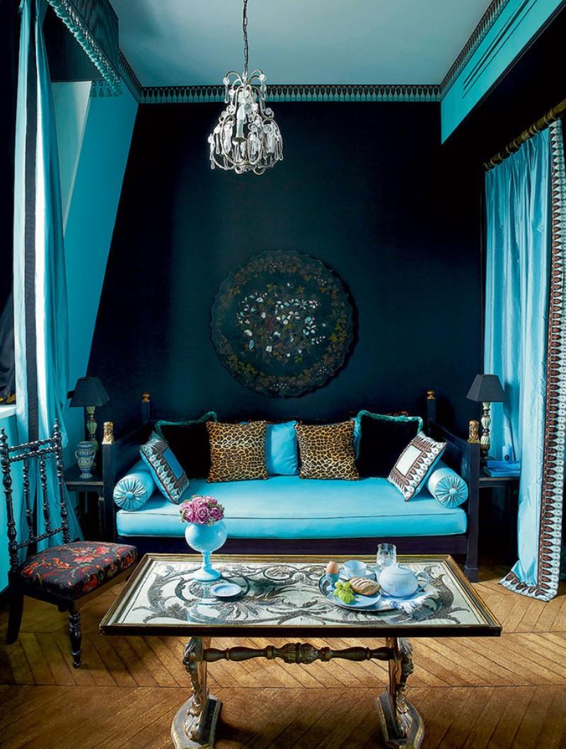 Бирюзовый диван софа