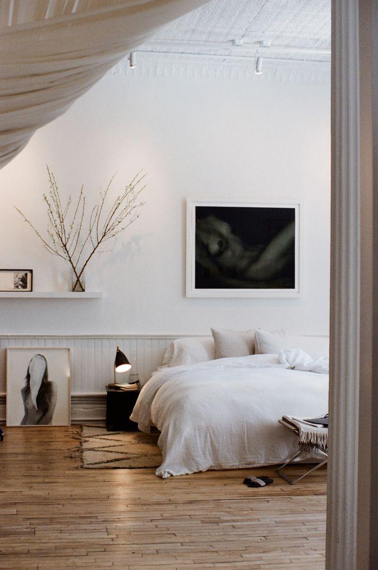 Состаренный пол в спальне