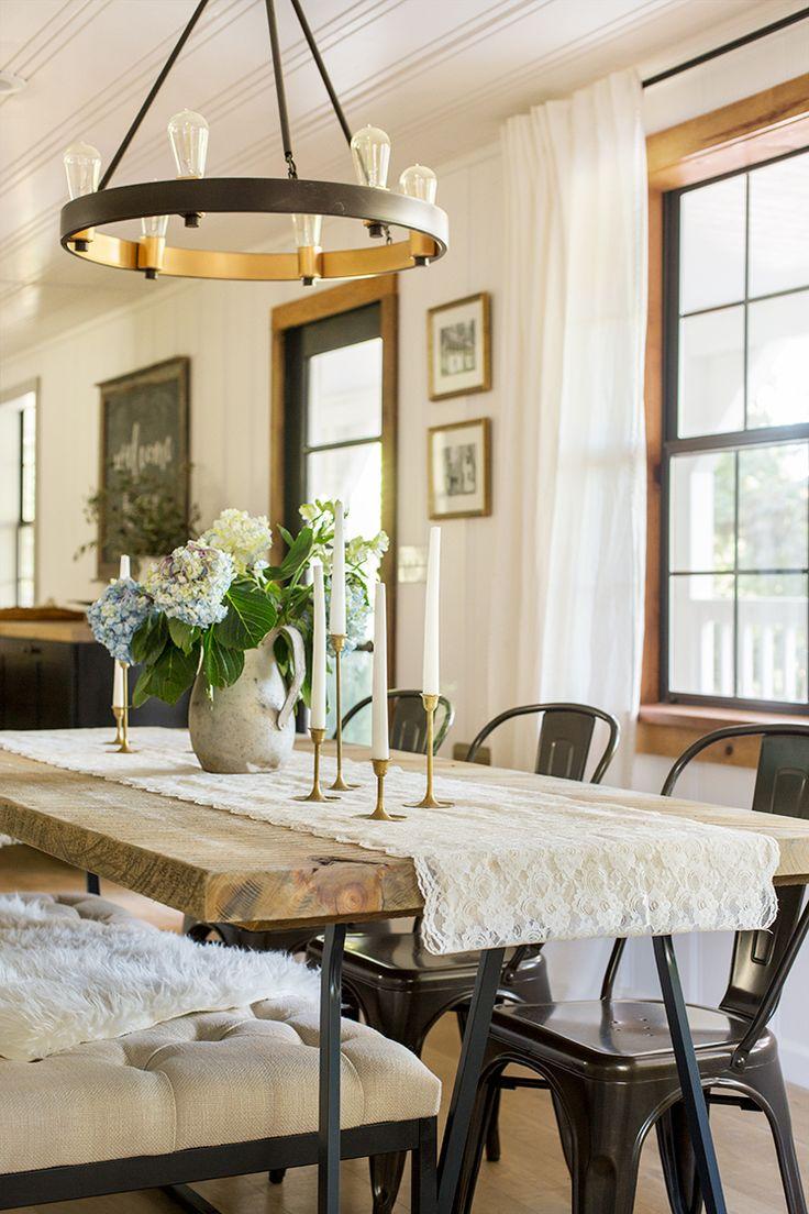 Лампа Эдисона в столовой